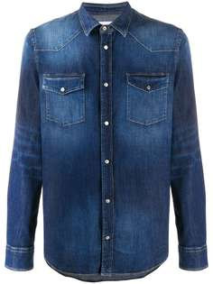 Dondup джинсовая рубашка из вареного денима