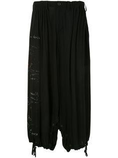 Yohji Yamamoto брюки-шаровары с принтом