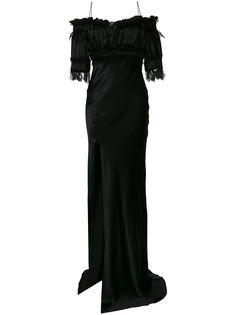 Redemption вечернее платье с приспущенными рукавами