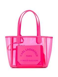 Karl Lagerfeld маленькая прозрачная сумка-тоут K/Journey
