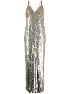 Temperley London вечернее платье Tamir с пайетками
