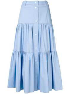 RedValentino эластичная поплиновая юбка