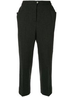 Chanel Pre-Owned классические укороченные брюки кроя слим