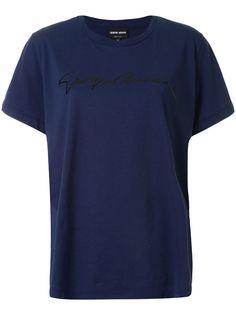 Giorgio Armani футболка с логотипом