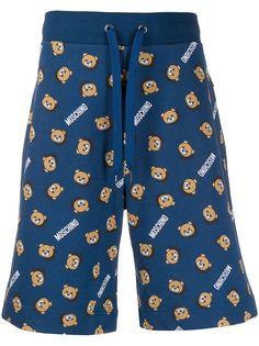 Moschino спортивные шорты с принтом Teddy Bear