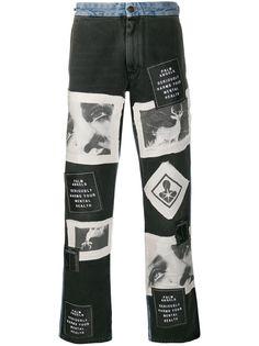 Palm Angels широкие джинсы с принтом