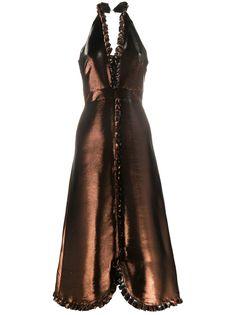Temperley London вечернее платье с эффектом металлик