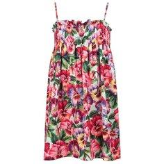 Платье DOLCE & GABBANA размер 104, розовый/цветочный принт