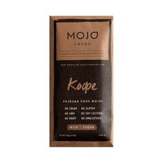 """Шоколад Mojo Cacao """"Кофе"""" горький с ореховой пастой, 65 г"""