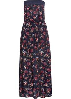 Платье макси бандо с принтом Bonprix