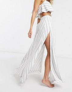 Пляжная юбка макси от комплекта в полоску ASOS DESIGN-Мульти
