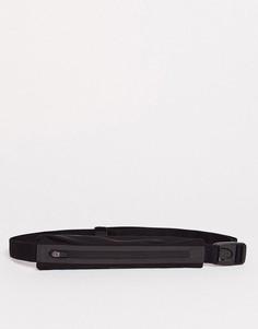 Сумка-кошелек на пояс с черной и серебристой отделкой Nike Running-Черный