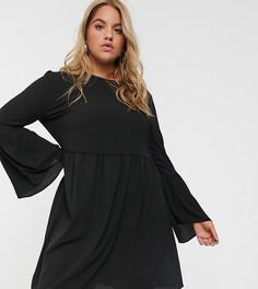 Черное свободное платье мини ASOS DESIGN Curve-Черный