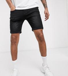 Черные джинсовые шорты скинни Soul Star Tall-Черный