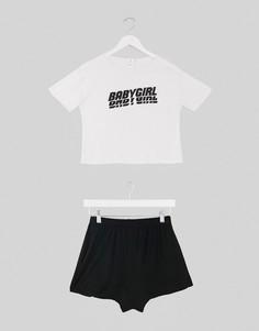Пижама с шортами и надписью Adolescent Clothing-Мульти