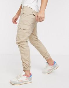 Светло-бежевые узкие брюки карго с манжетами Jack & Jones Intelligence-Светло-коричневый