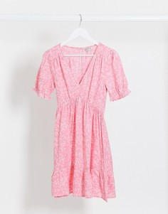 Розовое чайное платье мини Miss Selfridge-Розовый