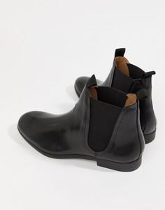 Черные кожаные ботинки челси H By Hudson Atherston-Черный