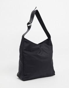 Черная большая сумка-тоут в спортивном стиле ASOS DESIGN-Черный