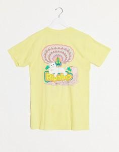 Желтая футболка с принтом на спине RIPNDIP-Желтый