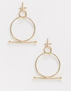 Серьги-кольца Topshop-Золотой