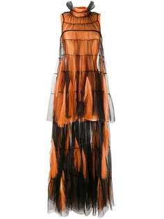 Loulou вечернее платье асимметричного кроя с бахромой
