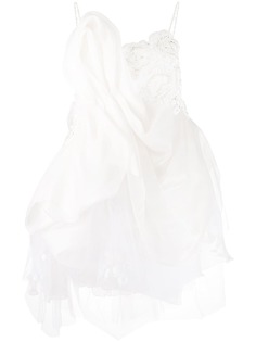 Loulou свадебное платье асимметричного кроя со вставками