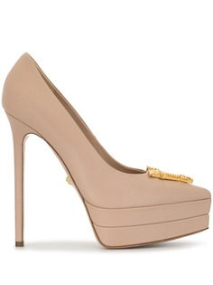 Versace logo-appliqued platform heels