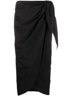 Maison Margiela юбка миди с запахом и завязками сбоку