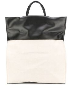 Jil Sander сумка-тоут в двух тонах