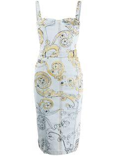 Versace Jeans Couture джинсовое платье с принтом