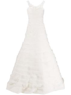 Loulou свадебное платье с ярусными вставками