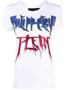 Philipp Plein футболка с логотипом из страз