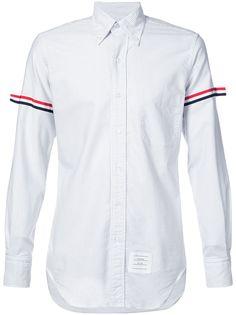 Thom Browne оксфордская рубашка на пуговицах с длинными рукавами