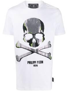Philipp Plein декорированная футболка с короткими рукавами