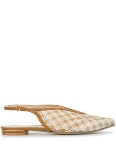 Mame Kurogouchi плетеные туфли на плоской подошве