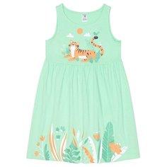 Платье crockid размер 140, Весенняя зелень