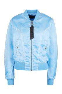 Куртка-бомбер голубого цвета Guess