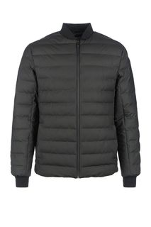 Стеганая куртка черного цвета на молнии Rains