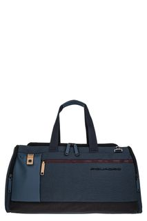 Синяя дорожная сумка с одним отделом на молнии Piquadro