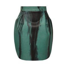 Кожаная юбка Versace