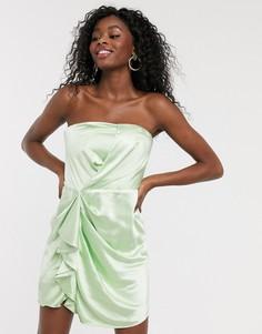 Атласное платье-бандоминиC/Meo Collective-Зеленый