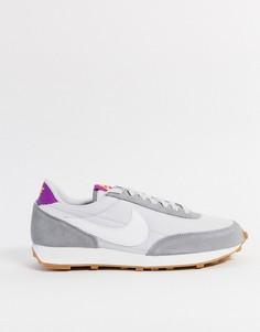 Кроссовки с серыми и белыми вставками Nike Daybreak-Серый