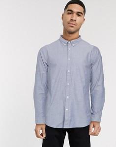 Голубая оксфордская рубашка Esprit-Темно-синий