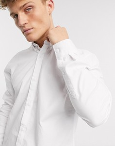Белая оксфордская рубашка с длинными рукавами River Island-Белый