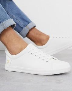 Белые кроссовки на шнуровке Farah-Белый