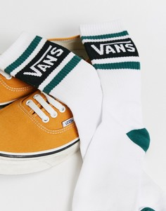 Бело-зеленые носки Vans tribe-Белый
