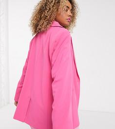 Розовый oversized-пиджак COLLUSION