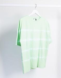 Свободная футболка с принтом тай-дай ASOS DESIGN-Зеленый