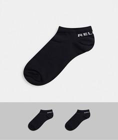 2 пары черных носков до щиколотки Religion-Черный
